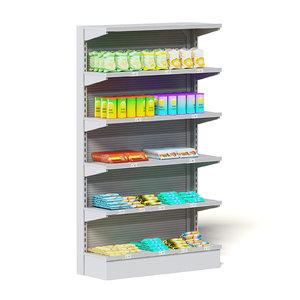 3D market shelf