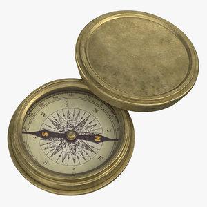 3D model compass
