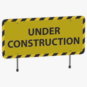 3D construction sign