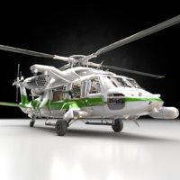 3D model helicopter heli guns