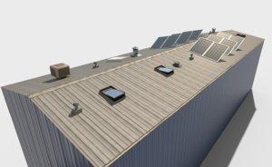 industrial roof elements modeled 3D model