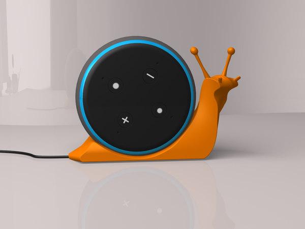 3D snail alexa model