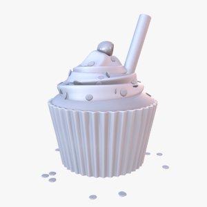 cake dessert cupcake 3D model