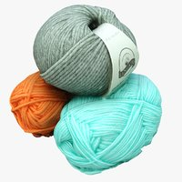 balls wool 3D model