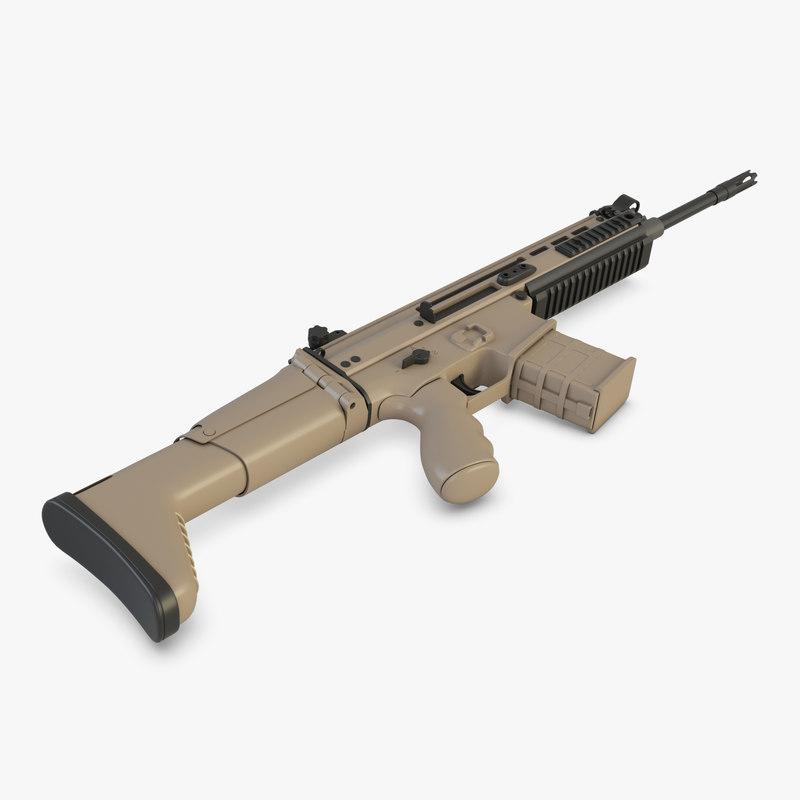 3D rifle gbb scar-h