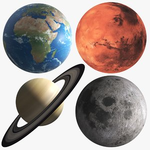 planets modeled 3D