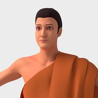 buddha holi man 3D model