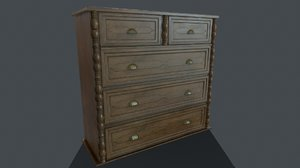 3D pbr chest drawers