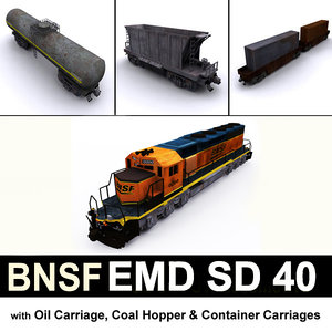 3D bnsf emd sd 40