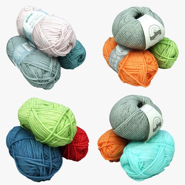 balls wool 3D