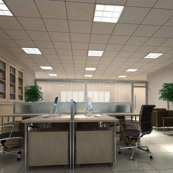 3D model office interior scene