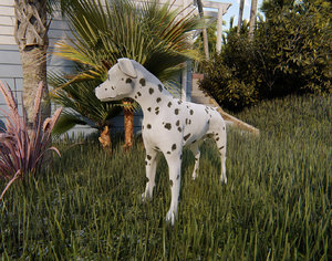 3D dalmatian dog
