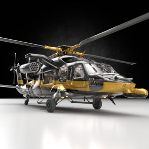3D helicopter heli guns