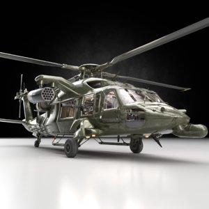 helicopter heli guns 3D model