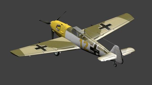 3D luftwaffe fighter emil