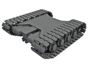 3D tank track model