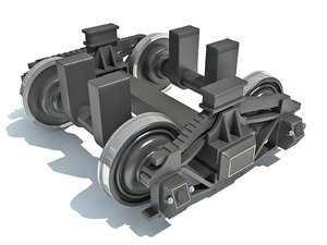 3D train wheels model