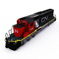 3D cn emd sd 40 model