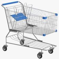 real shopping cart 3D model