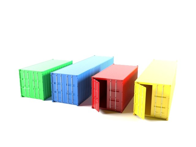 3D container industrial model