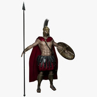 spartan warrior man model