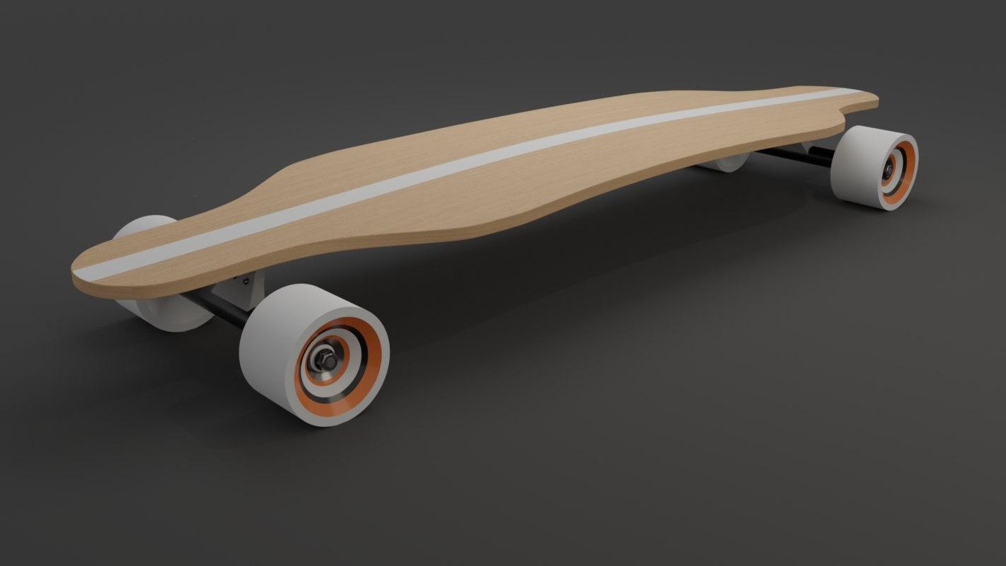 3D long board