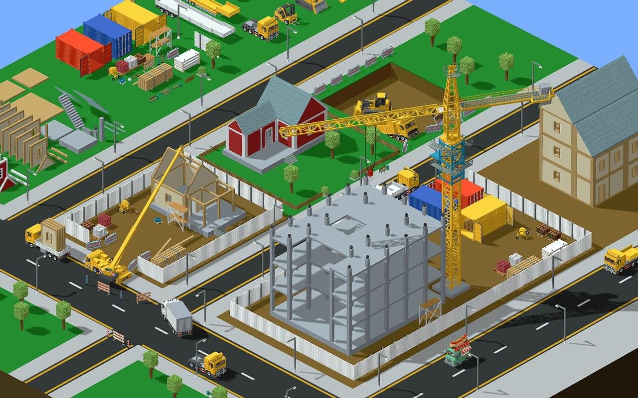 3D voxel construction 85 items model