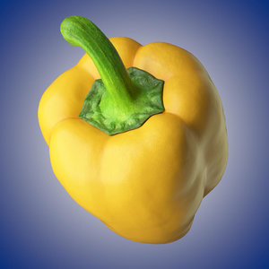 3D pepper 1 polly model