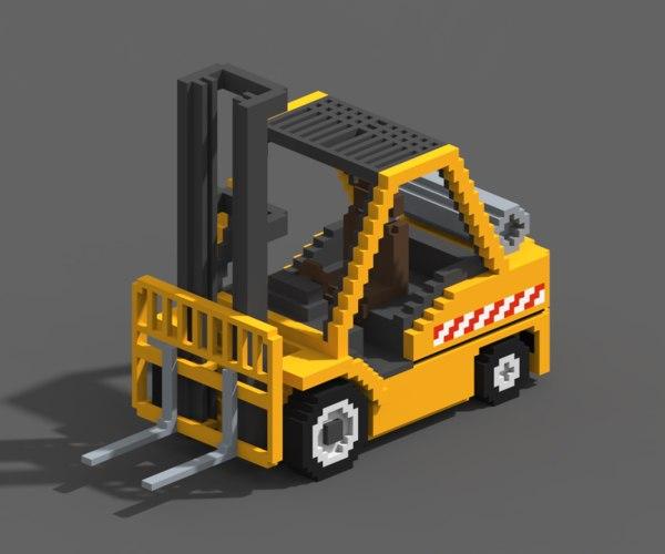 3D voxel forklift model