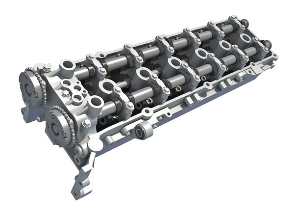 engine cylinder head 3D