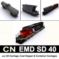 3D model cn emd sd 40
