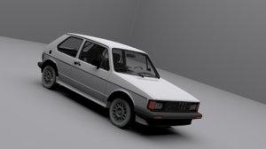 3D model volkswagen rabbit gti 1984