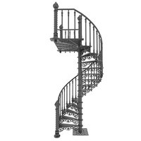 stairs spiral cast iron 3D model