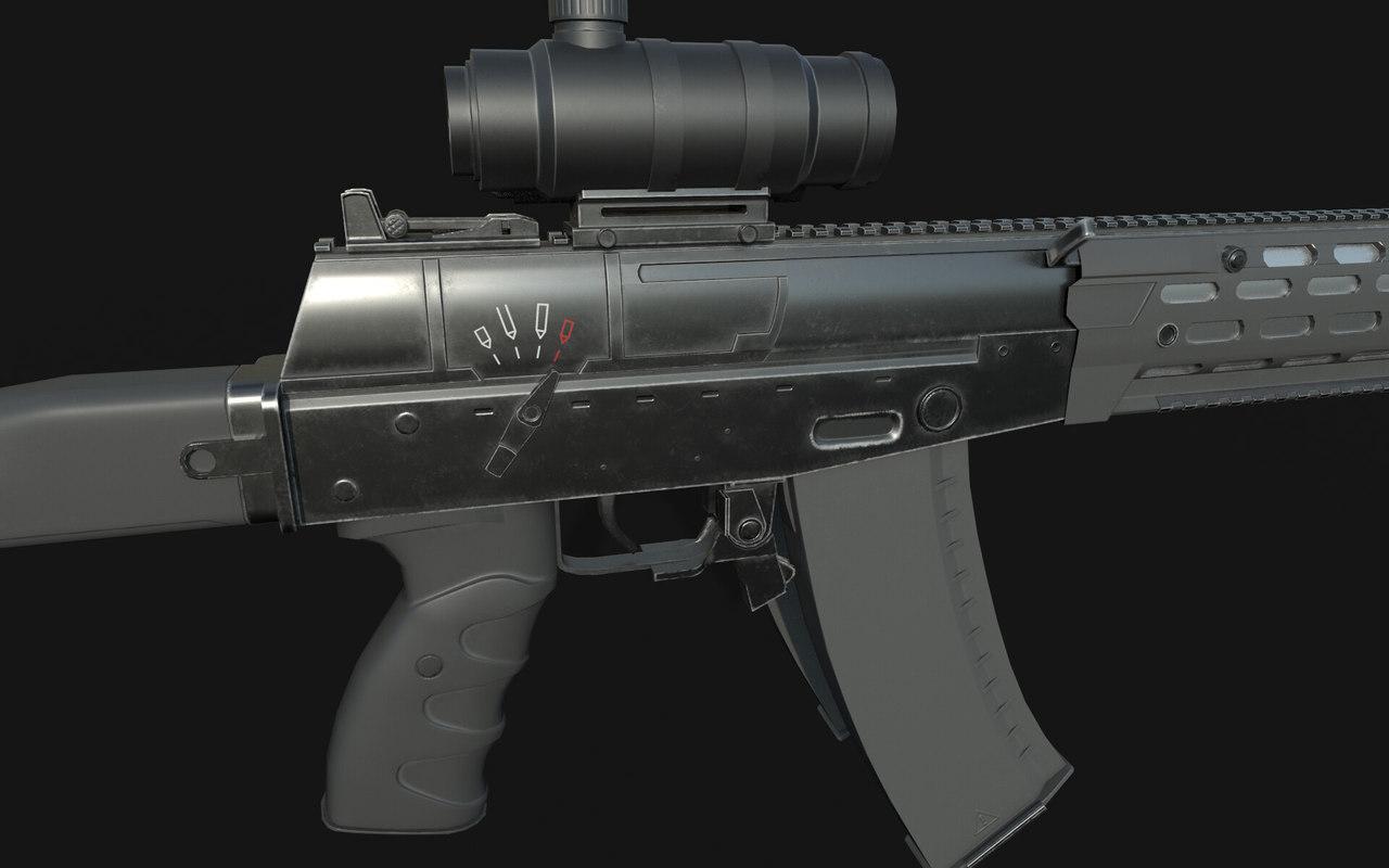3D ak-12 model