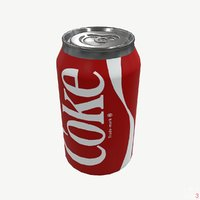 Coca Cola Coke Can (Game Ready) Low-poly 3D model