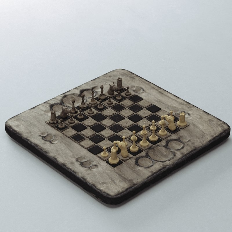 3D old chess