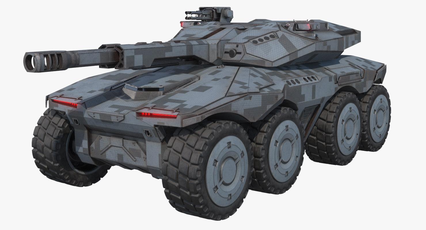3D sci-fi apc concept