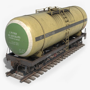 ready pbr railroad tank 3D model