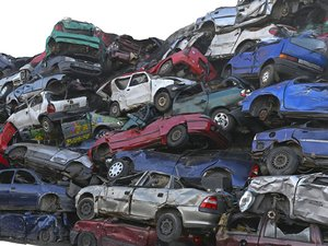 vehicle graveyard - car 3D