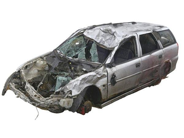 3D model car wreck 16k