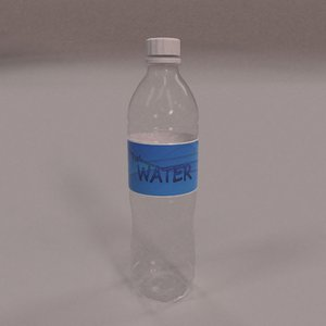disposable water bottle 3D model