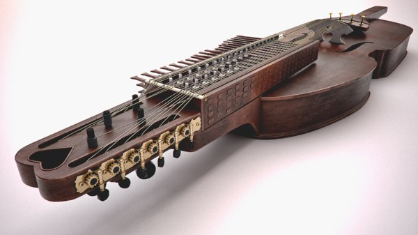 3D nyckelharpa swedish musical