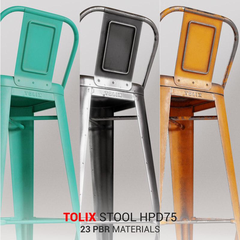 tolix stool hpd75 3D model