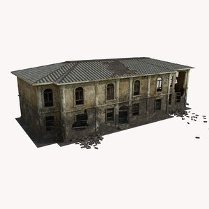 ruined house games 3D model