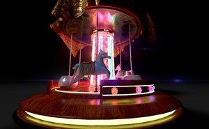 3D vintage carousel