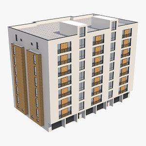 3D model apartment building 30