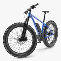 Electric Trail Bike Generic Rigged 3D Model