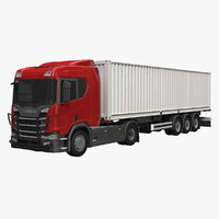 3D scania container trailer