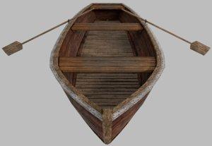 boat paddles 3D model