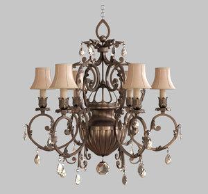 classic lampshade lamp 3D model